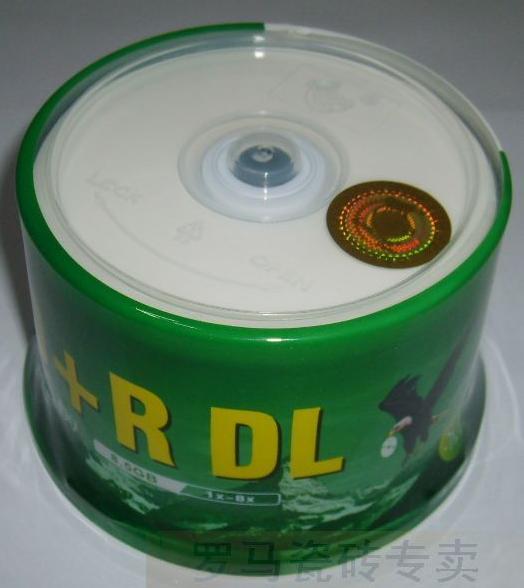 罗马光盘 香蕉 可打印 DVD+R D9 8.5G 8X DL空白刻录盘 50片桶装