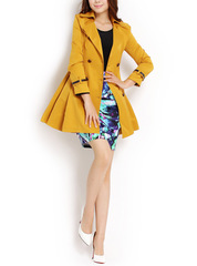 London season ~2014 counters-perfect high-quality double breasted skirt sweet commuter trench coat