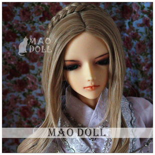 bjd wig high temperature wire 3 minutes sd doll fake hair blond Nordic scroll mixed pale gold cats doll house