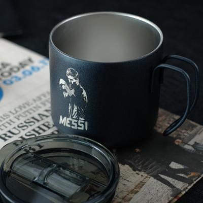 VSTEN梅西C罗内马尔皇马AC米兰国米不锈钢工业风咖啡杯水杯