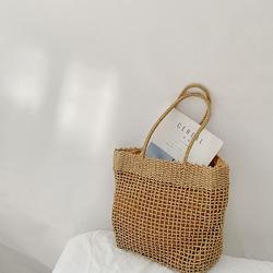 小红书同款野餐篮子草编包韩国ins包包编织包手提包新款单肩