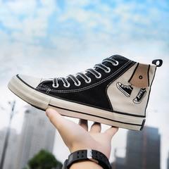 9813P35秋季韩版学生布鞋潮鞋男新款男鞋百搭港风高帮帆布鞋