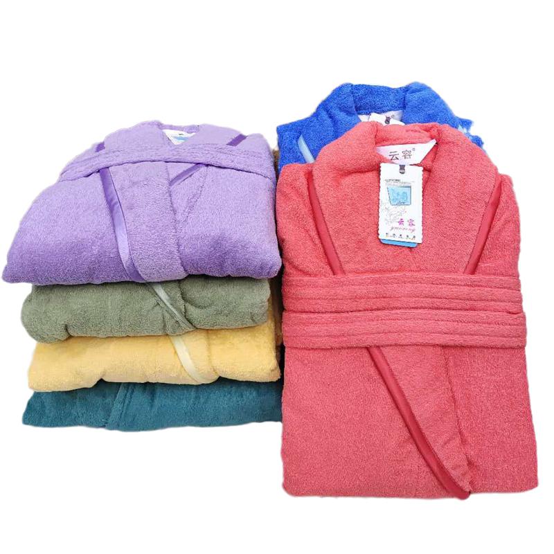 春と秋のカップルの長いバスローブ四季通用の綿タオル速乾吸水綿バスローブ家庭用浴衣