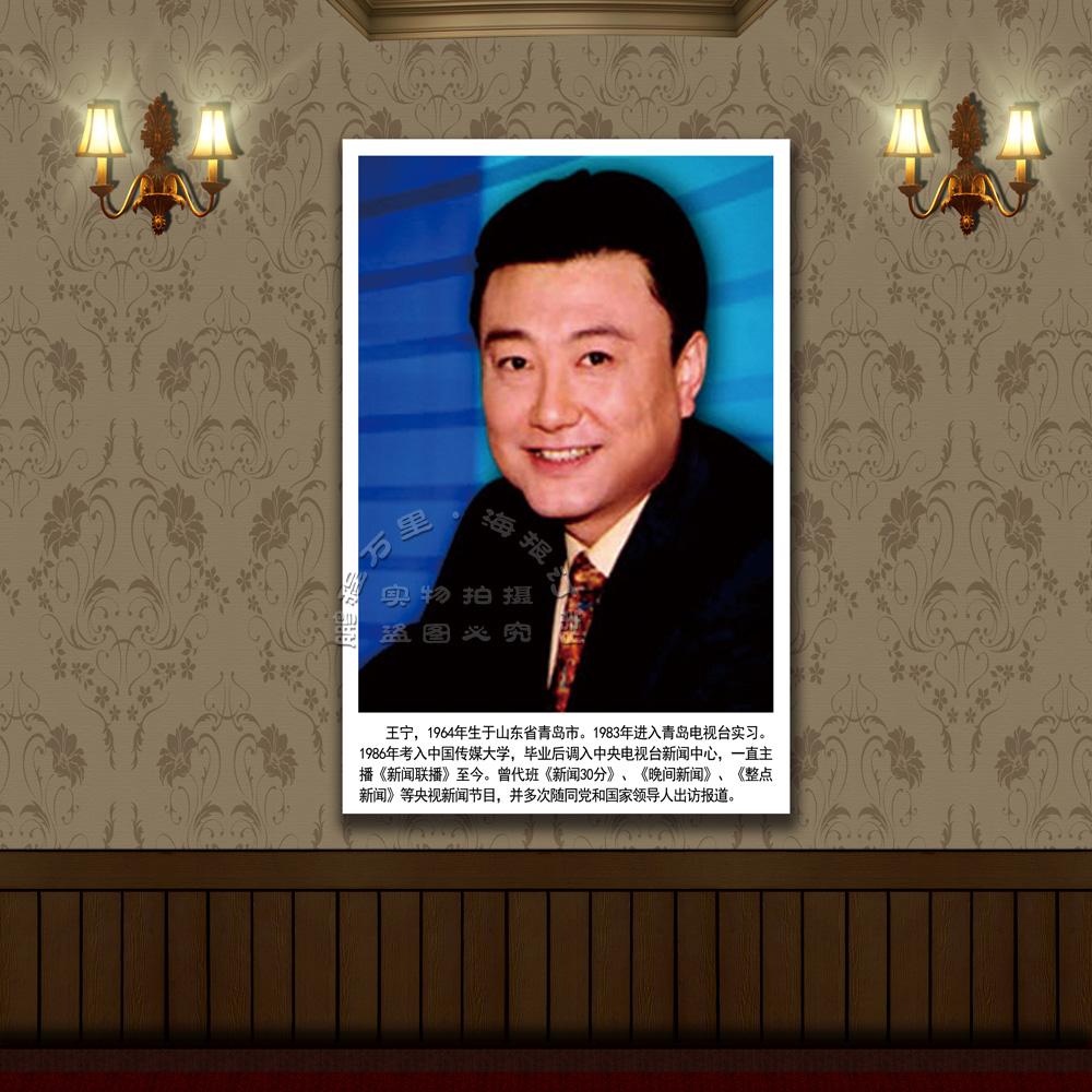 中央电视台 著名主持人海报 生活照片 CCTVCCTV王宁