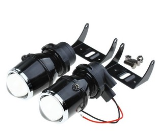 Fisheye lens fog car motorcycle xenon lamp H3 models modified car light lens extension