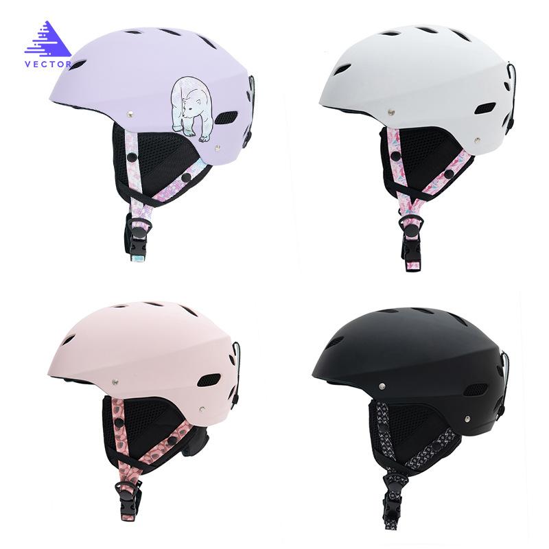 VEC滑雪防护头盔可调节头围运动户外专业滑雪头盔雪盔男女