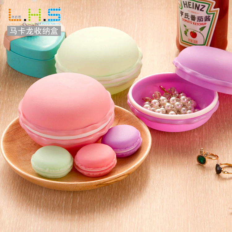 Fresh macarone Mini Jewelry box carrying ring necklace earring storage box sundry accessories small box