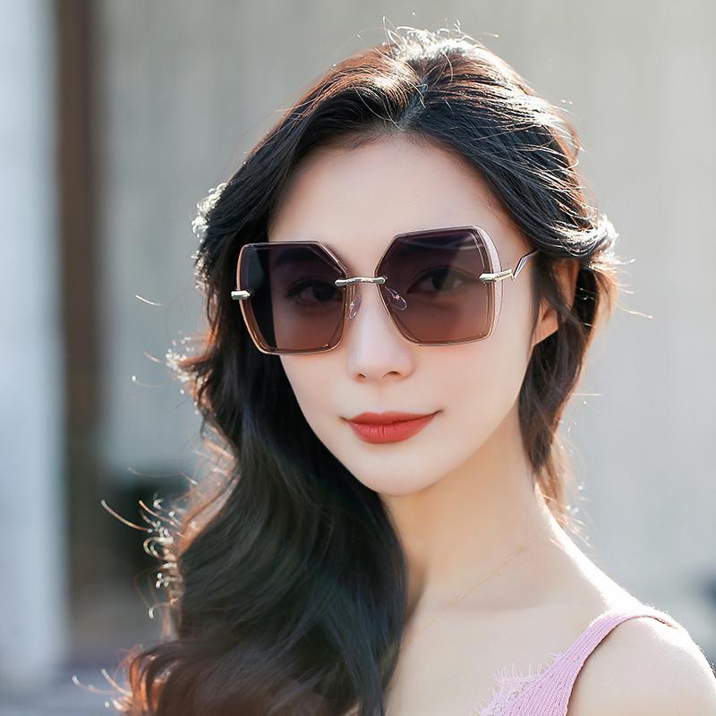 黛丝娜偏光墨镜大框小香风女士太阳眼镜韩版潮方框宽边眼镜