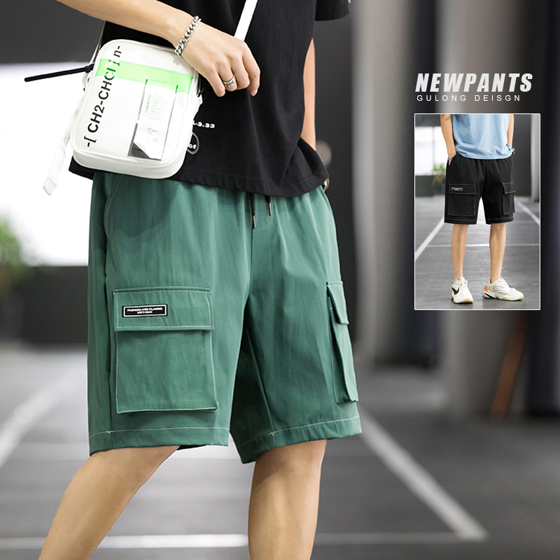 Basketball court summer trend versatile, loose straight tooling, Capris, casual shorts, male k860 P30