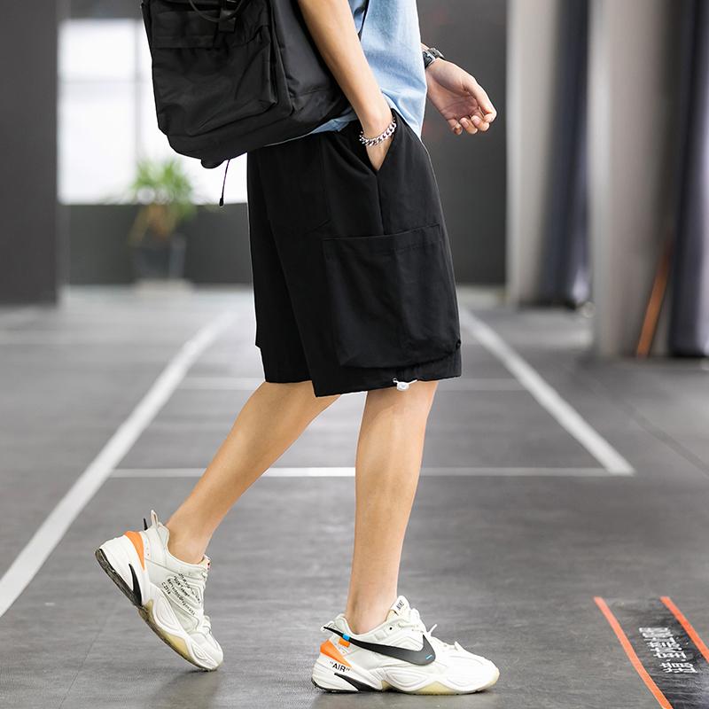 Basketball court summer trend versatile loose straight pants mens casual pants K850 p35