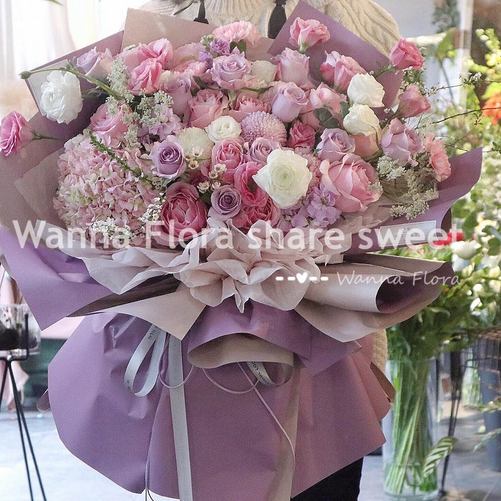 哈尔滨鲜花速递 母亲节同城鲜花配送 本地送花 韩式鲜花包配送