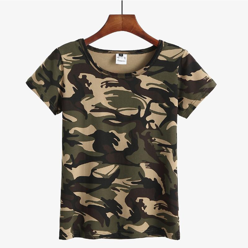圆领女水兵舞迷彩T恤夏季全棉短袖男女迷彩服t恤军迷特种兵团购