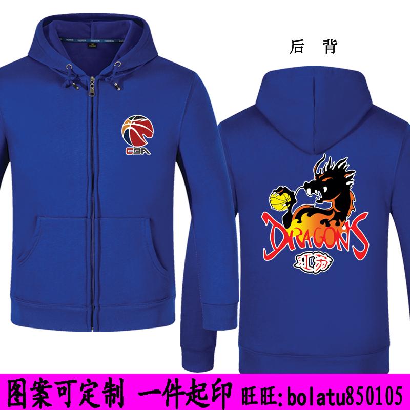 江苏龙外套 苏州肯帝亚队服装 2018CBA卫衣男篮球迷衣 长袖连帽衫