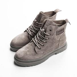 (亏本清仓)真皮马丁靴时尚百搭磨砂皮休闲加绒保暖女鞋