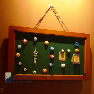 Orie Process Bar decorate decoration billiards snooker billiards bell bell blackboard wall decoration ideas