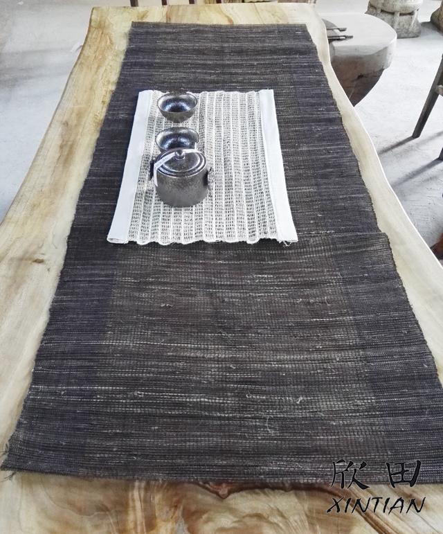 包邮特价纯手工苎麻布茶席茶垫,窗帘屏风隔断卷帘夏布促销特卖