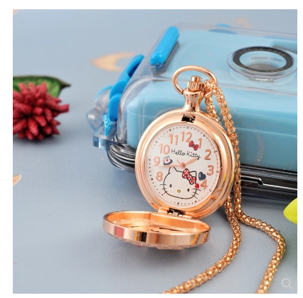 Simple and practical classic retro student watch waterproof Quartz Necklace Pendant pocket watch Korean version boys and girls Necklace
