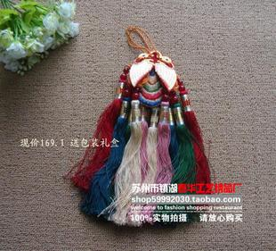 Send gift boxes red crown special handmade embroidery finished Suzhou embroidery boutique car pendant ornaments Features