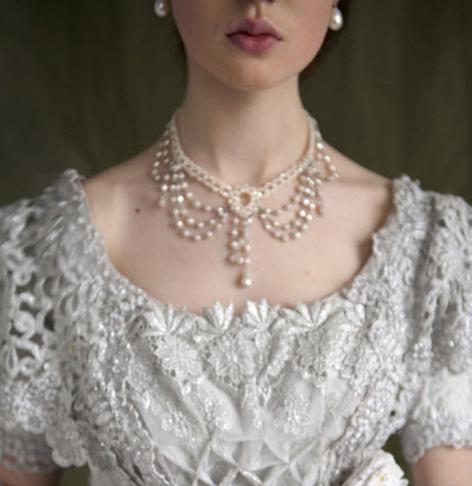 卿手作珠饰 手工定制款 巴洛克流苏珍珠项链 复古款颈链配饰