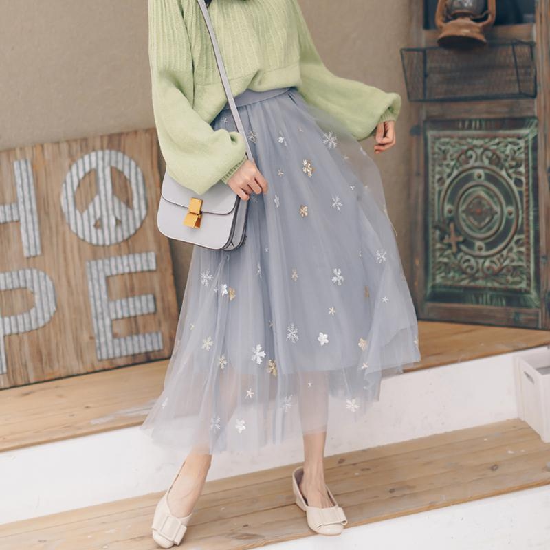 蕾丝子女仙女超仙森系2019半身裙满89.00元可用20元优惠券