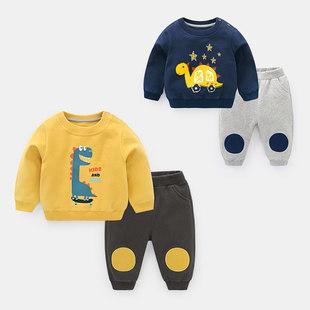 婴儿衣服卫衣套装 秋装婴幼儿男童女宝宝外出服运动小童Y4097
