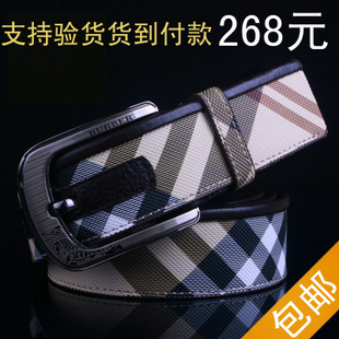 New authentic genuine leather tarpaulin Buckle men s business casual fashion belt belt Shopping