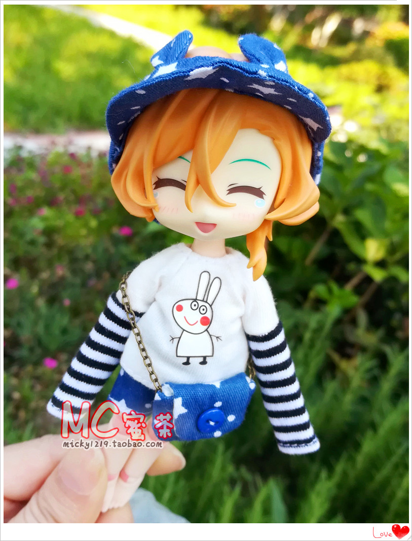 Out| bjd12 points ob11 clay baby beauty knot pig DDF boys and girls clothes suit T-shirt shorts baseball cap bag