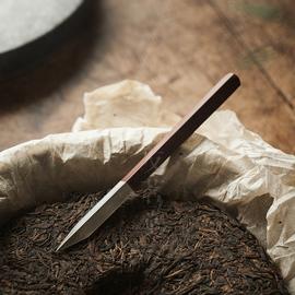 不锈钢大马士革纯手工普洱茶茶刀普洱刀普洱茶道具配件撬茶针茶锥