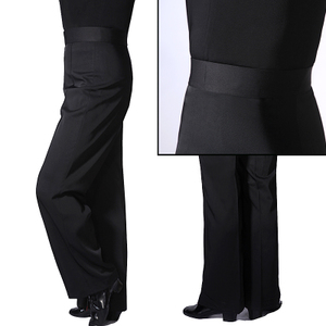 布腰全布款男士拉丁舞裤子舞蹈裤国标舞裤表演出练习服裤交谊舞裤