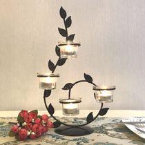 欧式铁艺蜡烛台情人节浪漫创意家居饰品烛光晚餐婚庆圣诞装饰摆件