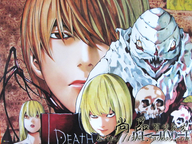 Single death note poster / dN poster / death note poster / night God moon hidomero Poster