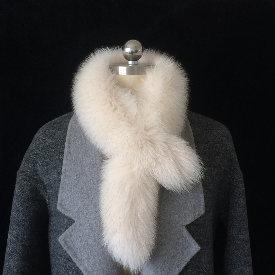 Feather bundle imported fox hair solid color double-sided scarf womens autumn and winter new fur real wool Bib warm and fashionable