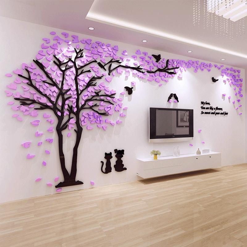 电视背景墙面贴纸壁画自粘客餐厅装饰品亚克力3d立体卧室房间布置淘宝优惠券