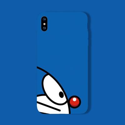 11pro叮当猫iphoneXR手机壳6S软磨砂8P苹果XS MAX全包7PLUS情侣X