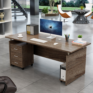 办公桌单人主管桌经理桌经济型四人位老板职员台式 电脑桌组合简易