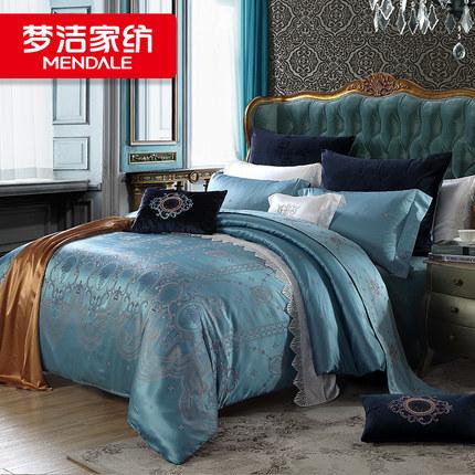 梦洁家纺提花床上四件套新品被套床单夏季床上用品网红款套件