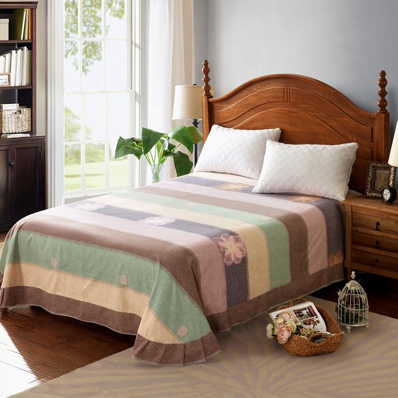 全棉加厚磨毛双人床单单件单人学生纯棉保暖欧式圆角被单品秋冬季