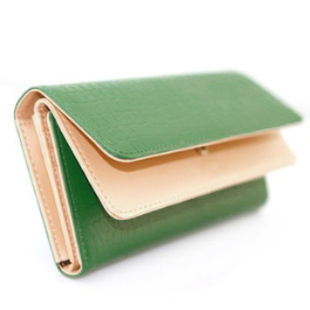 Wallet womens Long Wallet womens double fold stone pattern three fold Long Wallet womens wallet