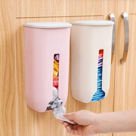 垃圾袋收纳盒神器厨房装放方便袋子购物塑料袋收集器壁挂整理盒HG
