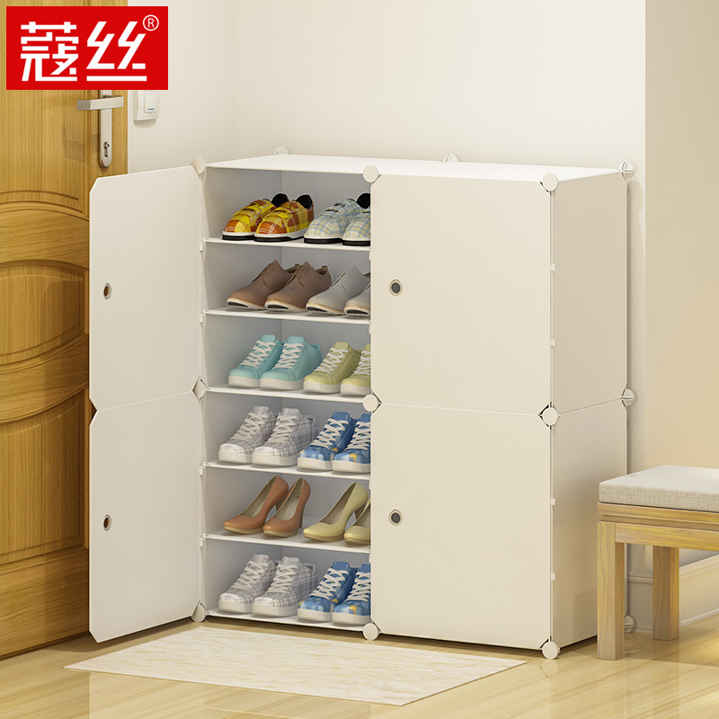 鞋架子多层防尘置物架家用经济型储物柜收纳神器简易鞋柜家用门口