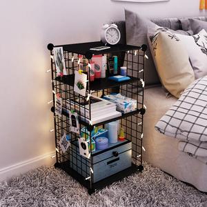 床头柜简约现代北欧ins风收纳储物柜卧室小型柜子铁艺简易置物架