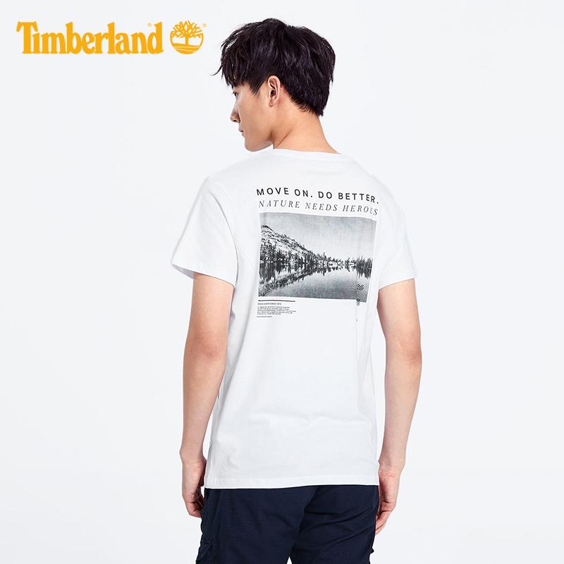 【地球守护者】Timberland添柏岚男装19夏圆领印花短袖T恤|A1X58
