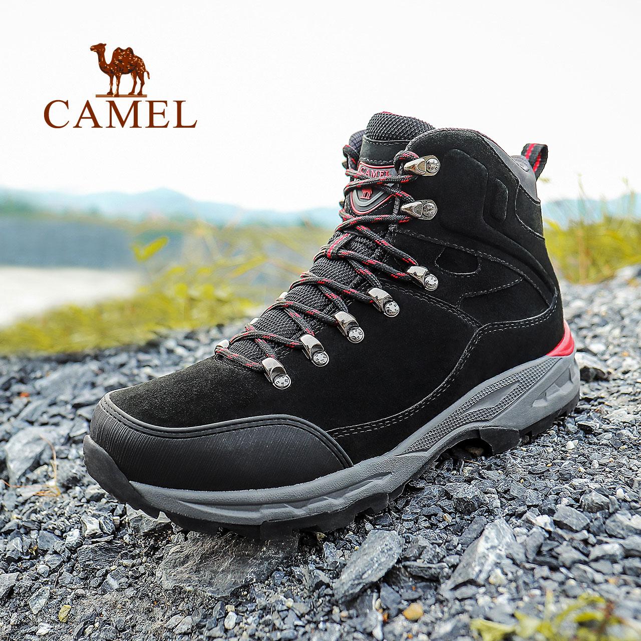 骆驼男鞋2020冬季防水防滑登山鞋高帮潮户外耐磨徒步爬山沙漠靴