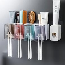 家居用品大全洗漱台卫生间放牙刷牙膏收纳盒的架子洗刷置物架壁挂