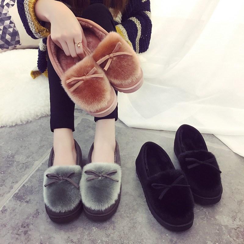 家居外穿中学生秋冬款棉拖鞋软底办公室棉鞋女月子室内大码加冬天