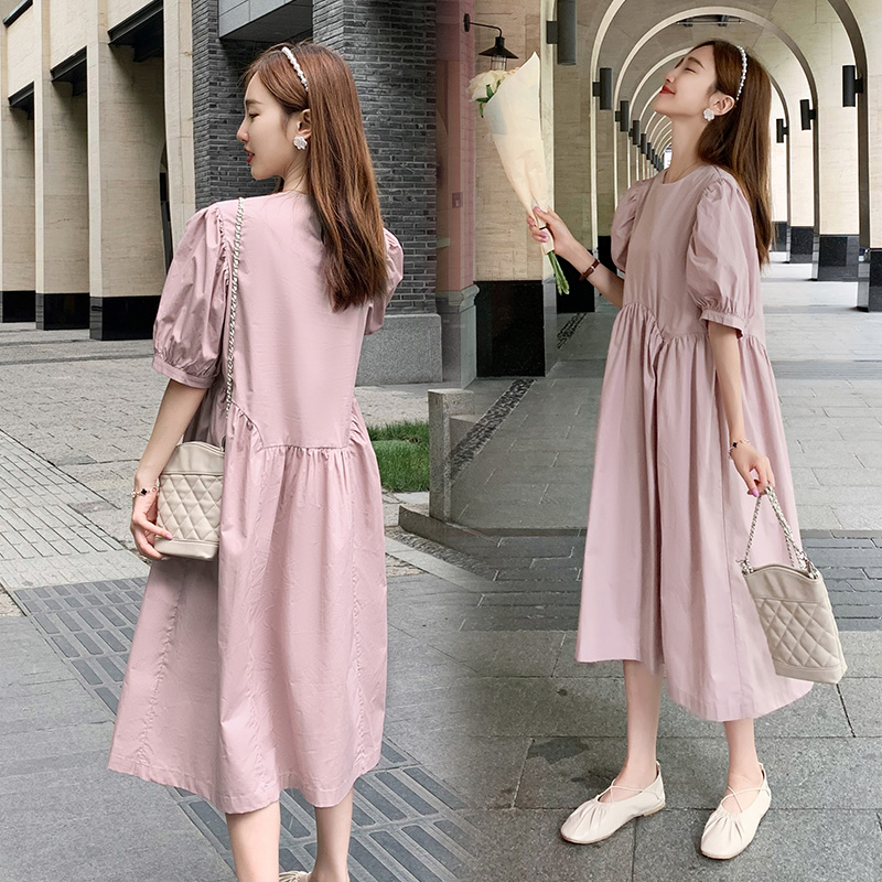 Pregnant womens dress late pregnancy summer fashion loose foreign style pregnant womens fashion 2020 new pregnant womens dress summer