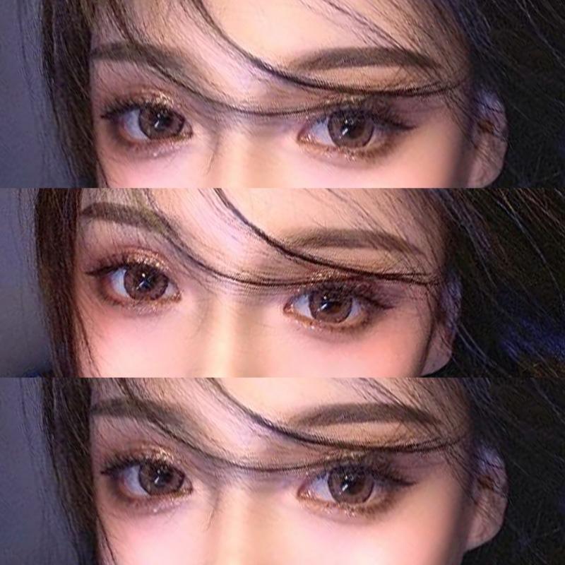混血美瞳年抛女小直径缇娜正品大牌蓝色欧美隐形眼镜日抛半年抛TN