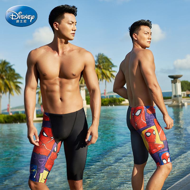 迪士尼男士平角五分速干防尴尬泳裤
