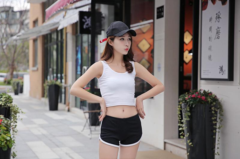 2017春季上新韩版纯棉自然腰女式低腰性感家居薄款休闲运动热短裤