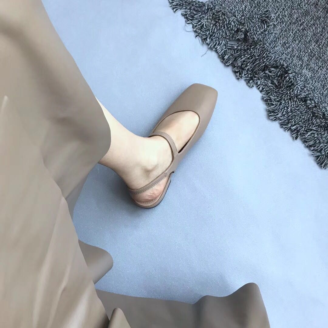 (用3元券)走心推荐韩国复古小皮鞋方头凉鞋